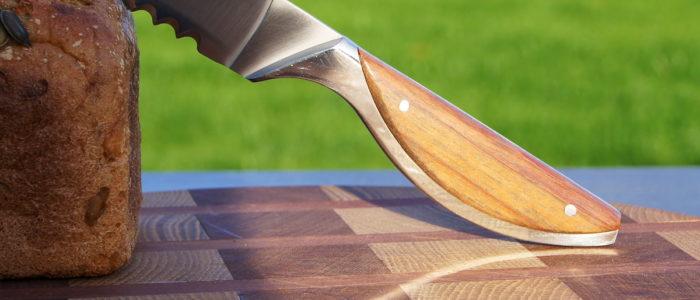 Brotmesser Haute Cuisine bei Claude Dozorme, exotisches Holz