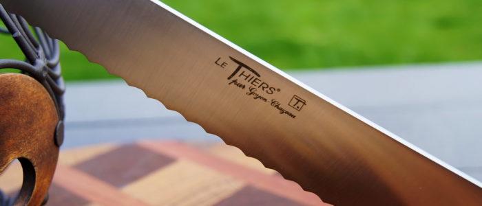 Brotmesser Thiers Goyon-Chazeau, Wacholdergriff, 23 cm
