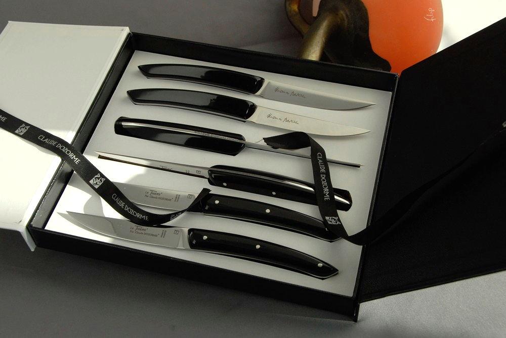 Claude Dozorme Thiers 6-tlg. Steakmesserset Thomas Bastide noir