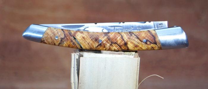 Taschenmesser Thiers, Le Fidele, stabilisiertes Buchenholz