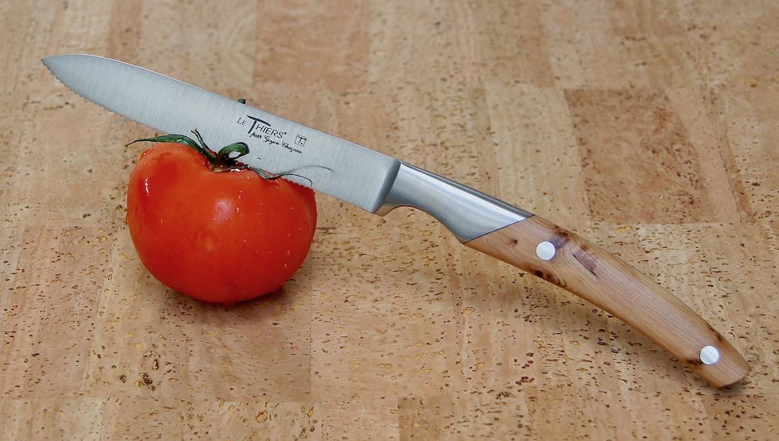 Tomaten- / Gemüsemesser Thiers Goyon-Chazeau, Wacholdergriff