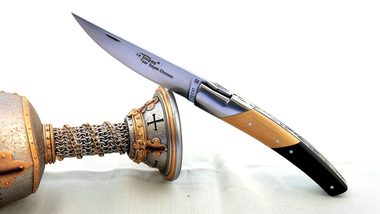 GOYON-CHAZEAU, Taschenmesser Thiers Pirou, Ebenholz / Buchsbaum