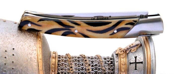 GOYON-CHAZEAU, Taschenmesser Thiers Pirou, Jungle-Design 01 mit Kunstharz