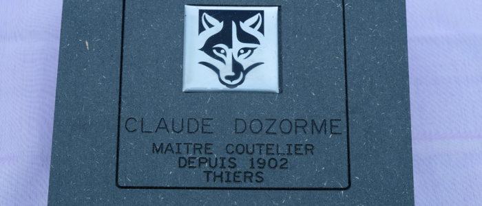 Taschenmesser Thiers Verrou Claude Dozorme, guillochierte Platine, Horn blond