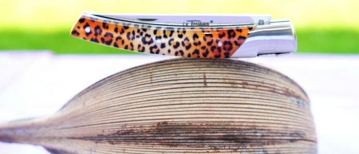 GOYON-CHAZEAU, Taschenmesser Thiers Pirou, Jungle-Design 04 mit Kunstharz