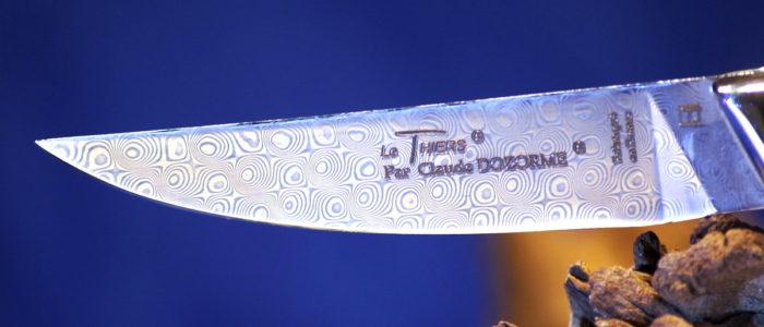 Taschenmesser Thiers Claude Dozorme, Damast, Buche