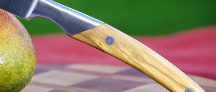 Allzweck/Steak-Küchenmesser Thiers Goyon-Chazeau Olive 13 cm