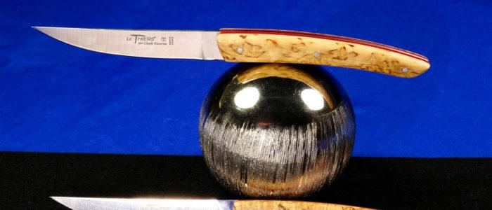 Claude Dozorme Thiers 2-teilig. Steakmesser Set, Birkenholz, red Stripes