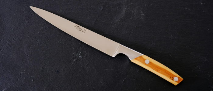 Filetier-Küchenmesser Thiers Goyon-Chazeau, Wacholdergriff 20 cm