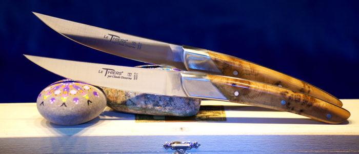 Steakmesserset Thiers Art Deco, Claude Dozorme, Wacholder