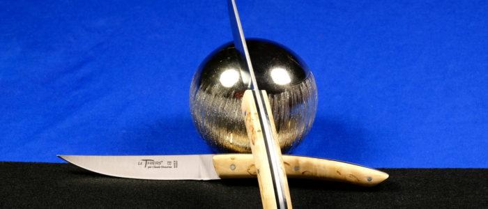 Claude Dozorme Thiers 2-teilig. Steakmesser Set, Birkenholz, black Stripes