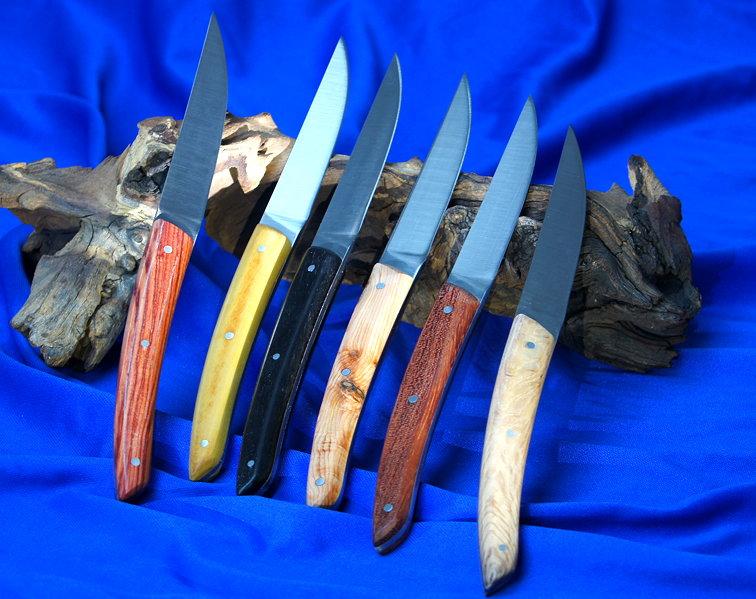 Steakmesser Claude Dozorme Thiers 6-teiliger Set bois panaches divers