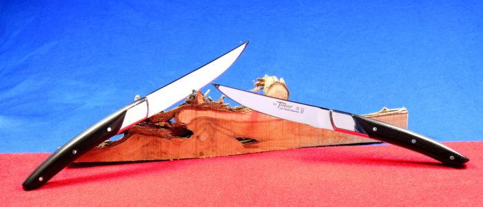 Steakmesserset Thiers Art Deco, Claude Dozorme, Ebenholz